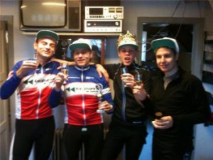 De to vinderpar: Jesper Schack, Klaus Haaning, Tonni Johannsen og Lasse Johannsen