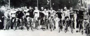Haderslev By's jubilæumsløb den 14. juni 1943. Jørgen Rudolf Hansen nr. 6 fra venstre.
