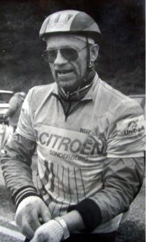 Cai Risskov i cykeldress.