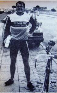 Lars Bo Marcussen som sølvvinder ca. 10 min. efter at være kommet i mål.